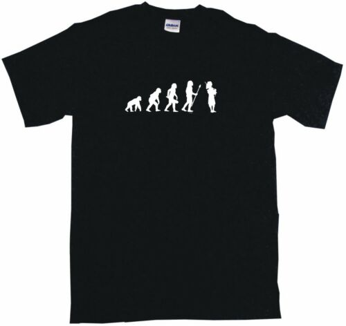 Evolution of Humans Bagpipe Player Logo Mens Tee Shirt Pick Size Small-6XL