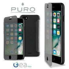 PURO Custodia Sense Cover Per Apple iPhone 7 PLUS Flip S View Ultra Slim Nera