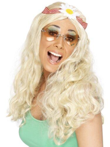 Blonde 1960/'s Groovy Wig Adult Womens Smiffys Fancy Dress Costume
