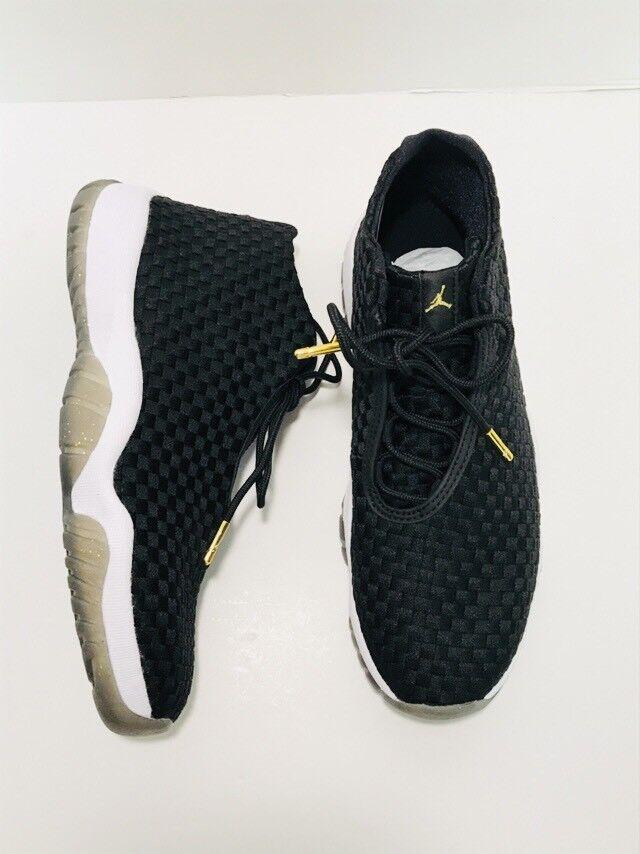 Nike Air Jordan Future Off Court Woven Black NEW White Gold Men's Sneakers NEW Black 542575