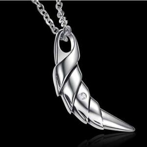 Wolf with Crystal Teeth Stainless Steel Punk Pendant Necklace Jewelry for Men
