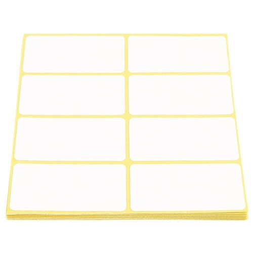 Klebeetiketten 33 x 64 mm selbstklebend 160 Stück Tiefkühletiketten