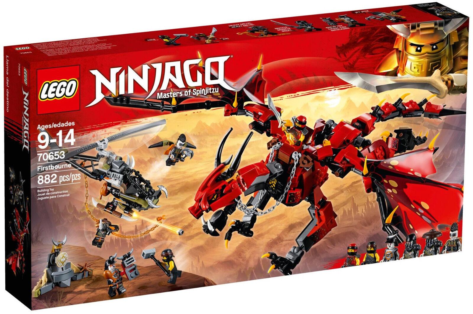 Lego Ninjago - 70653 mère des dragons M. Muzzle, Cole, Kai, chewtoy-Nouveau NEUF dans sa boîte