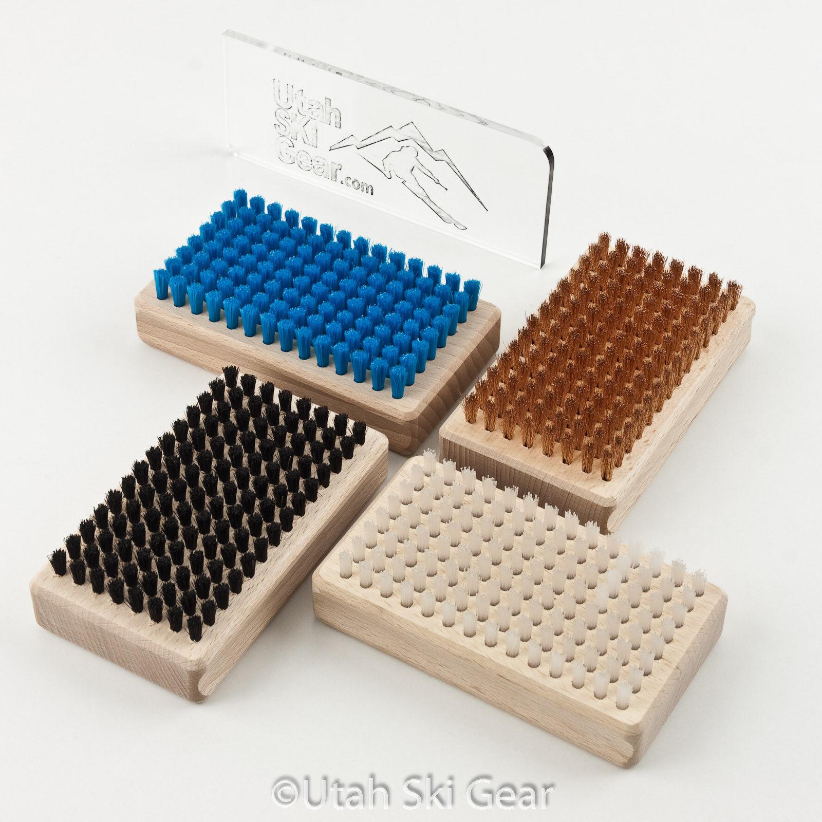 Wintersteiger Base Brush Kit Rectangular for Skis and Snowboards by Utah Ski ...
