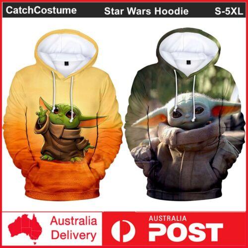 Star Wars The Mandalorian Baby Yoda Hoodie Sweatshirt 3D Print Cosplay Jacket
