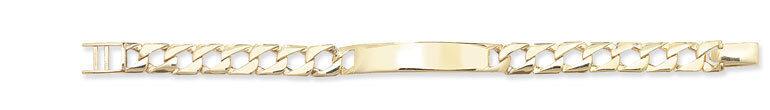9ct gold Hallmarked Baby Boys Plain Curb Identitiy Bracelet 5.50
