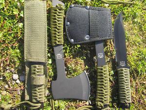 2-in-1-MP9-Outdoor-Beil-mit-Messer-Gurtelmesser-Axt-Paracord-Machete-BW-Camping