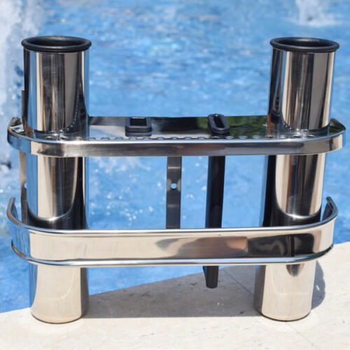 Promotional Fishing Rod Holder Rests and Tackle Rack Stainless Steel 2 Tube Nice