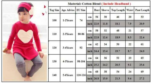 2//3Pcs Toddler Kids Baby Girls Winter Outfits Set Long Sleeve T-Shirt Tops Pants