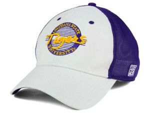 LSU Tigers The Game NCAA Circle Stretch Cap - Flex Fitted Trucker Hat OSFM