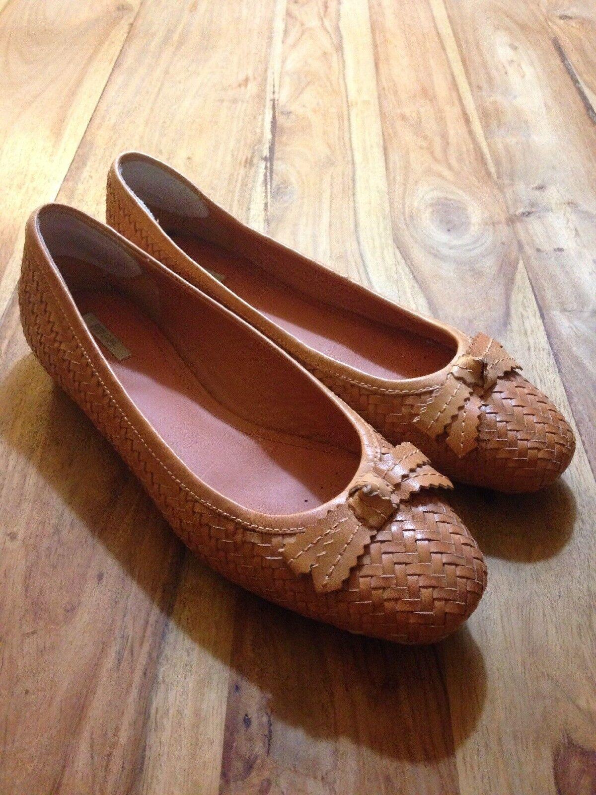 Tolle Damen Schuhe Schuhe Damen Ballerina 41 GEOX Cognac geflochten bf9cc0