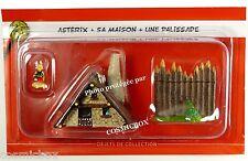 Le VILLAGE d'ASTERIX n° 1 figurine ASTERIX sa maison une palissade Hachette 2015