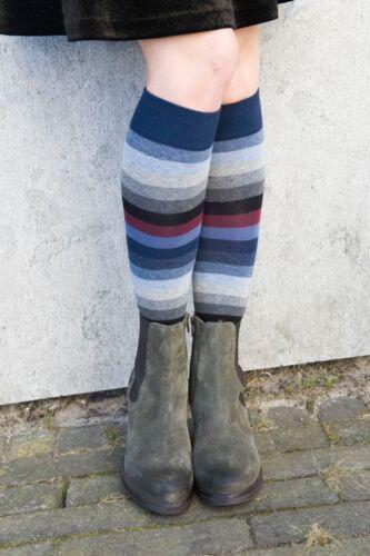 Bonnie Doon ~ Femmes ~ Big Stripe Knee-High ~ montantes ~ Light Navy ~ Rayures ~ 36-42