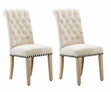 Bellcrest Button Tufted Upholstered Dining Chairs Set Of 2 For Sale Online Ebay