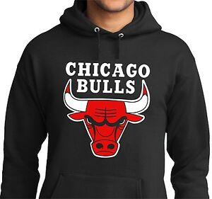 new chicago bulls men 039 s hoodie hooded black sweatshirt jersey name. Black Bedroom Furniture Sets. Home Design Ideas