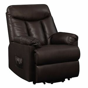 Power Lift Recliner Leather Furniture Home Theater Chair
