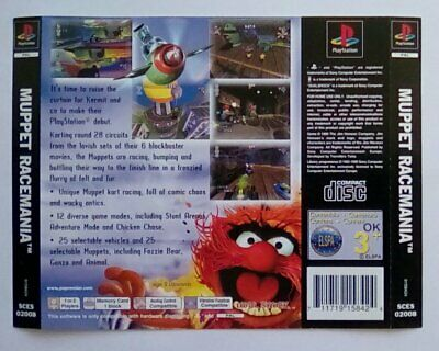 ***back Inlay Only*** Muppet Racemania Race Mania Playstation One 1 Psone Ps1 Ps Catalogi Worden Op Verzoek Verzonden