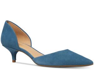 Nib Size 5 Michael Kors Alba Flex Kitten Heels Shoes Dark Chambray Blue Ws Ebay