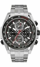 Bulova Men's 98B270 Precisionist UHF Quartz Chronograph Black Dial 48.5mm Watch