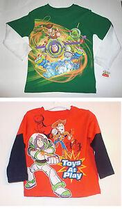 Disney Pixar Cars  Toddler Boys Long Sleeve T-Shirt Size 3T 4T NWT  Blue //Black