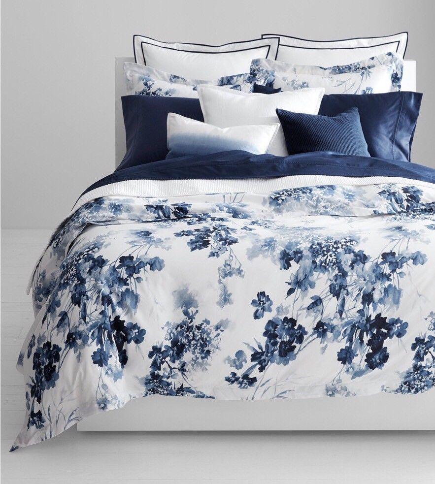 Ralph Lauren Home Flora König 3 -PC Comforter Set Blau Floral 230TC Cotton  420