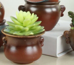 Image Is Loading 2pcs Handmade Glazed Ceramic Planter Pot Have A