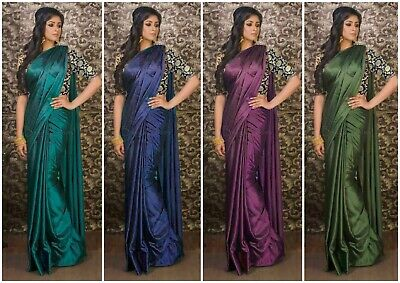 Designer Saree Indian Bollywood Traditional Ethnic Saree With Blouse CC