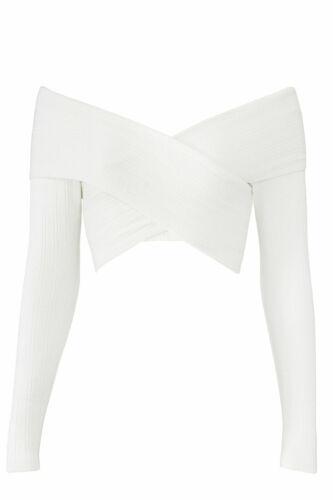Mara Hoffman Women's Crop Top White Size XL Ribbed