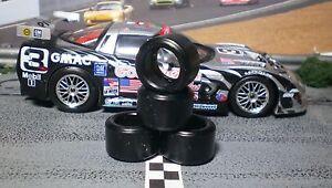 1/32 URETHANE SLOT CAR TIRES 2pr PGT-20126LM fit Fly Chevy Corvette C5R