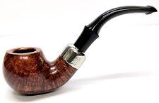 Peterson System Briar Pipe Smooth Finish Apple Bent Medium (303)