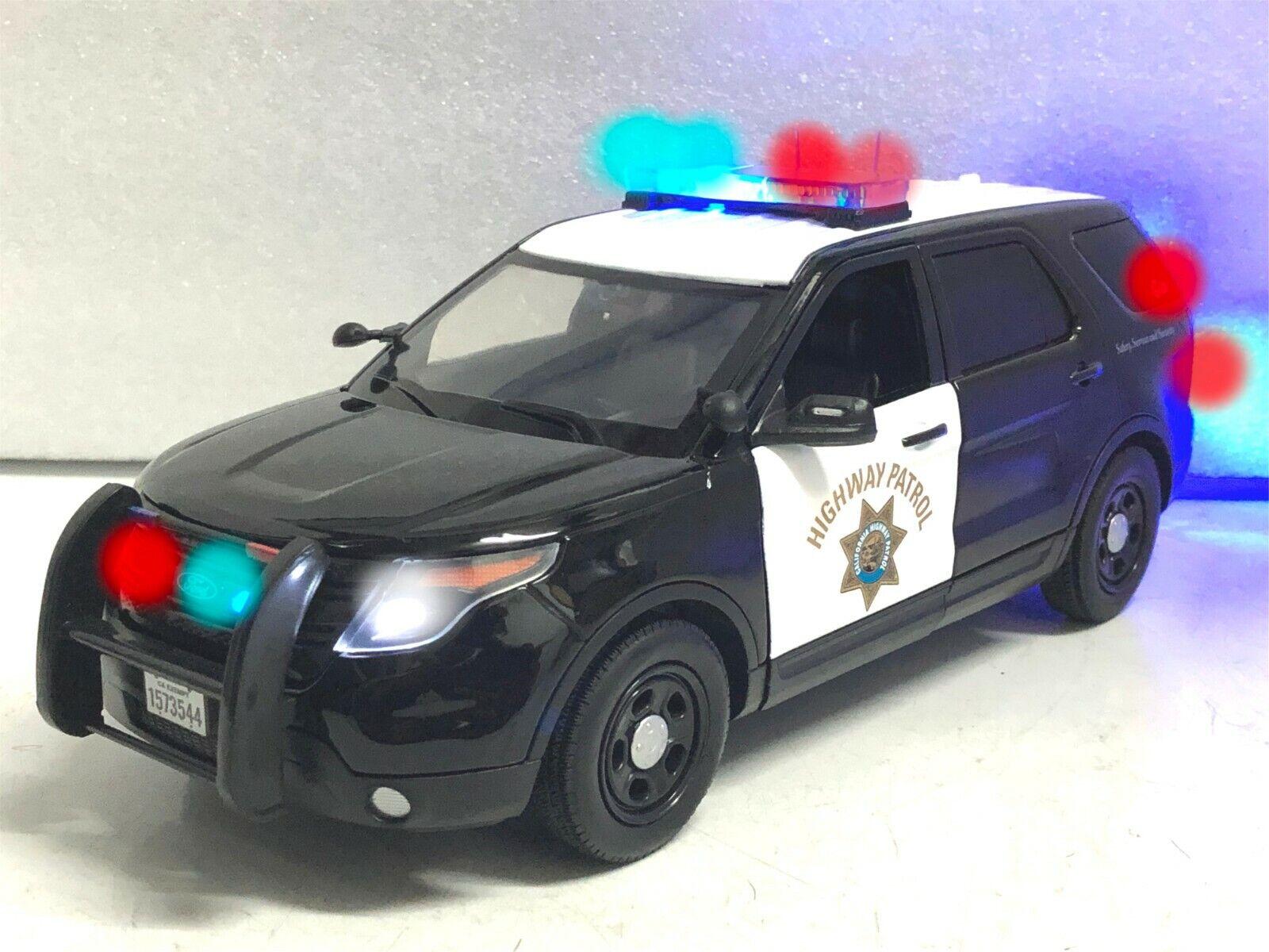 1 18 CHP Police Interceptor SUV PI WORKING Emergency POLICE LED LIGHTS Ut