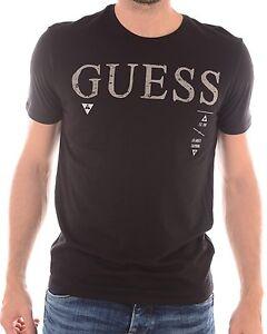 Dettagli su T Shirt GUESS Maniche Corte Uomo M53I05 Nero, TAGLIA XS S M L XL