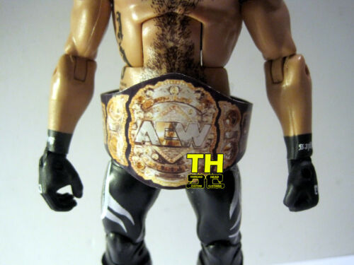 AEW Heavyweight Championship Custom Title Wrestling Figure Belt WWE