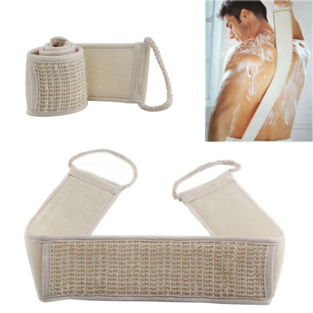 Scrub Bath Hot Brush Body New Exfoliating Scrubber Shower Sponge Spa Back Strap