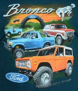 15d183fa19d Image is loading Ford-Bronco-T-shirt-100-Cotton-Preshrunk