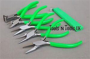 VERT-11-4cm-PINCES-amp-NOUAGE-OUTIL-6-PCS-ENSEMBLE-KIT-JOAILLERIE-CABLE-PERLES