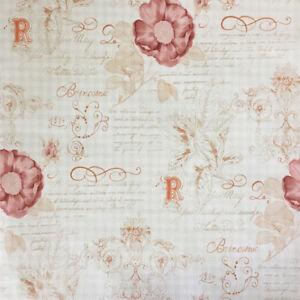 Tapete Rasch Textil Vintage Diary 255088 Floral Creme Rot Nostalgie / 2,25 €/qm