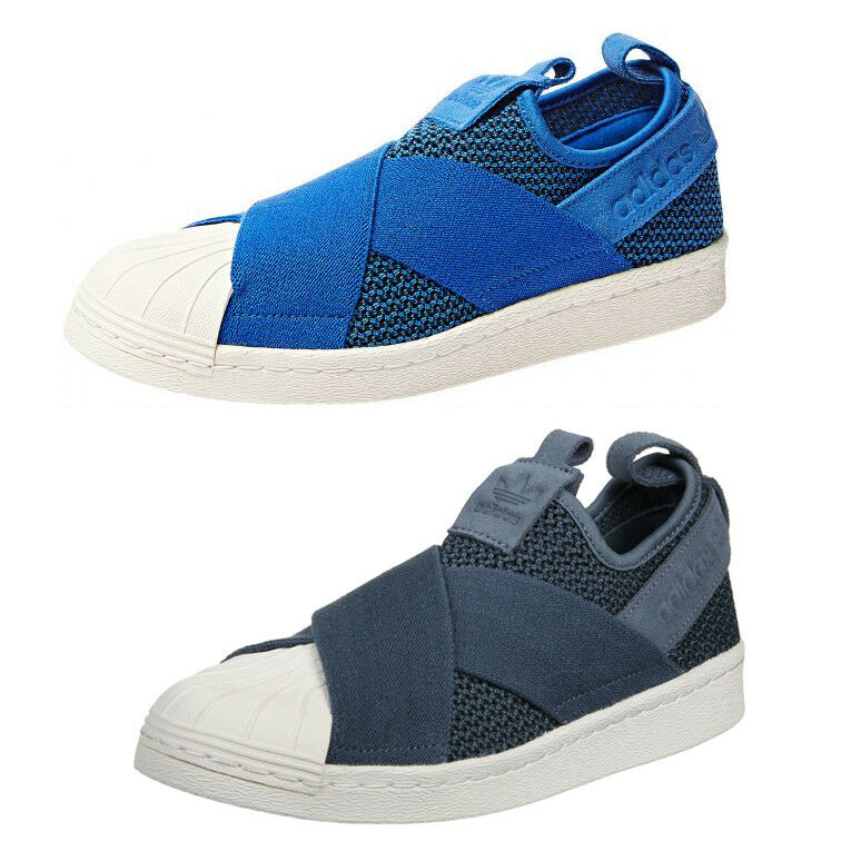 low priced 32c93 02312 Adidas Originals Superstar sin Cordones Zapatilla Deportiva Trainers Azul  Mujer