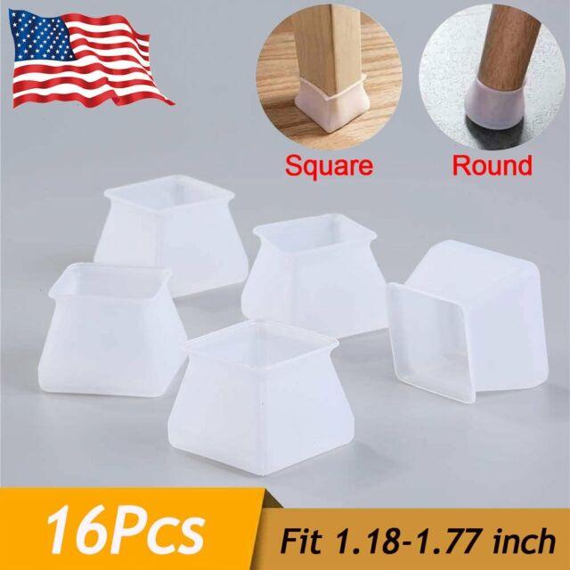 16x Chair Leg Cap Floor Protection Furniture Table Feet Silicone Anti-Slip Cover