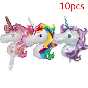 10-teile-satz-pferd-luftballons-baby-shower-cartoon-tier-ballon-Kinder-Spie-F