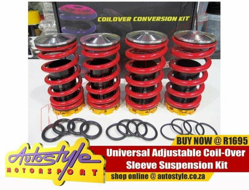 Universal Adjustable Coil-Over Sleeve Suspension Kit R1695 other brands and vehicle specific coil ov