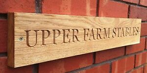 LARGE-ENGRAVED-SOLID-OAK-HOUSE-NAME-PLAQUE