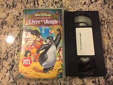 LE LIVRE DE LA JUNGLE THE JUNGLE BOOK RARE FRENCH SECAM FORMAT VHS DISNEY KIDS!