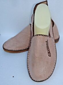 BEST-QUALITY-MOROCCAN-LEATHER-BABOUCHE-Slippers-NATURAL-ALL-SIZES