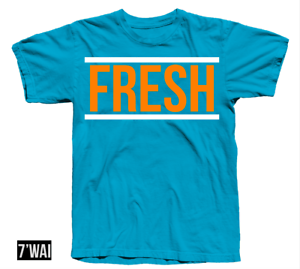 "/""FRESH/"" 1 SHIRT IN JORDANS /""BLUE LAGOON/"" AIR COLORWAY I RETRO 2018"