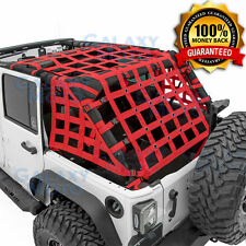 07-17 Jeep Wrangler JK Off Road 4 Door RED Cargo Restraint Net System 4x4 NEW!