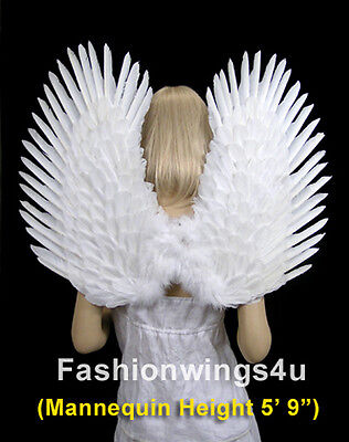 Duo Use pointing up or down White Costume feather wings Angel Dove Swan Props