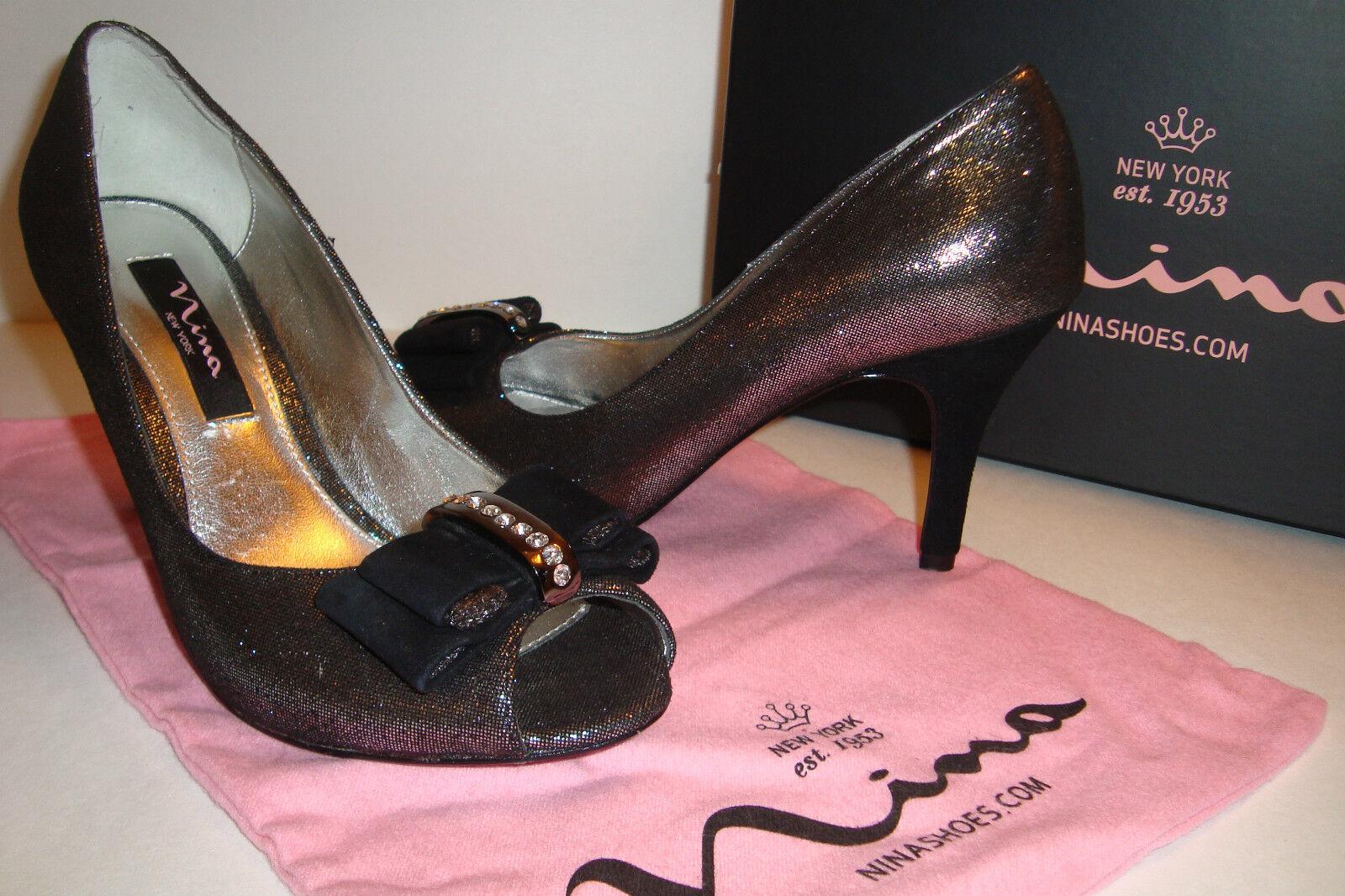 Nina Damenschuhe NWB Frosti Gunmetal Burnish Frosti Heels Schuhes 5.5 MED NEU