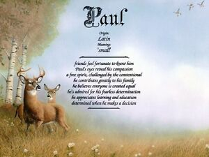 """Deer"" Name Meaning Print Personalized (Animals Nature Landscape)"