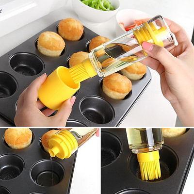 Silicone Honey Cooking Baking Oil Brush Pancake oil brush BBQ oil Brush Bottle